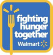 "Walmart ""Fighting Hunger Together"" logo"