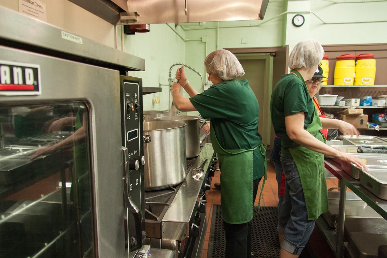 Kitchen Prep At The All Saints Soup Kitchen