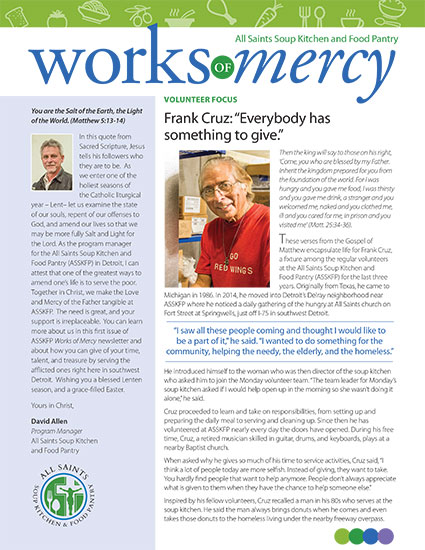All Saints Works of Mercy Newsletter