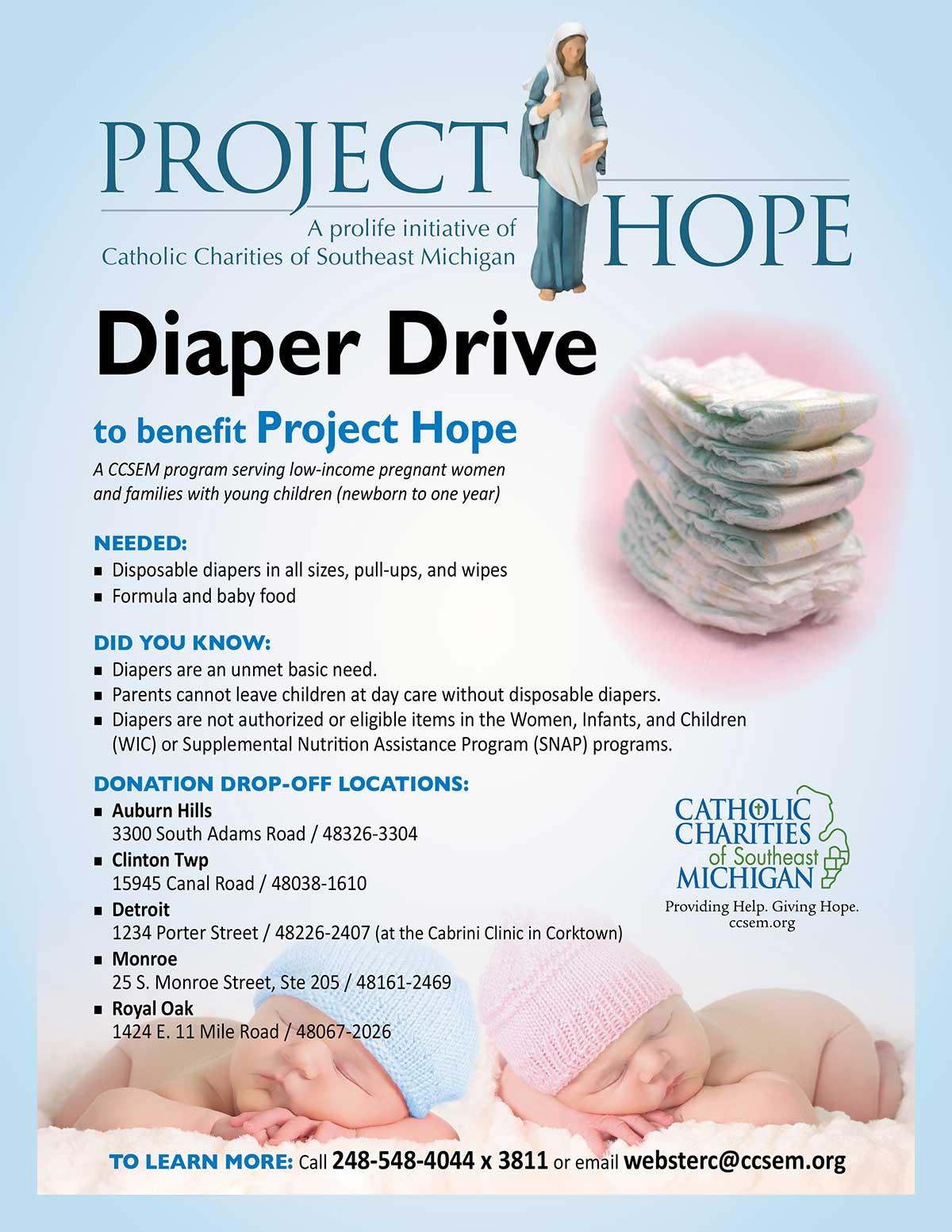 Diaper Drive flyer