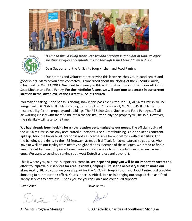 2018 Winter Appeal Letter