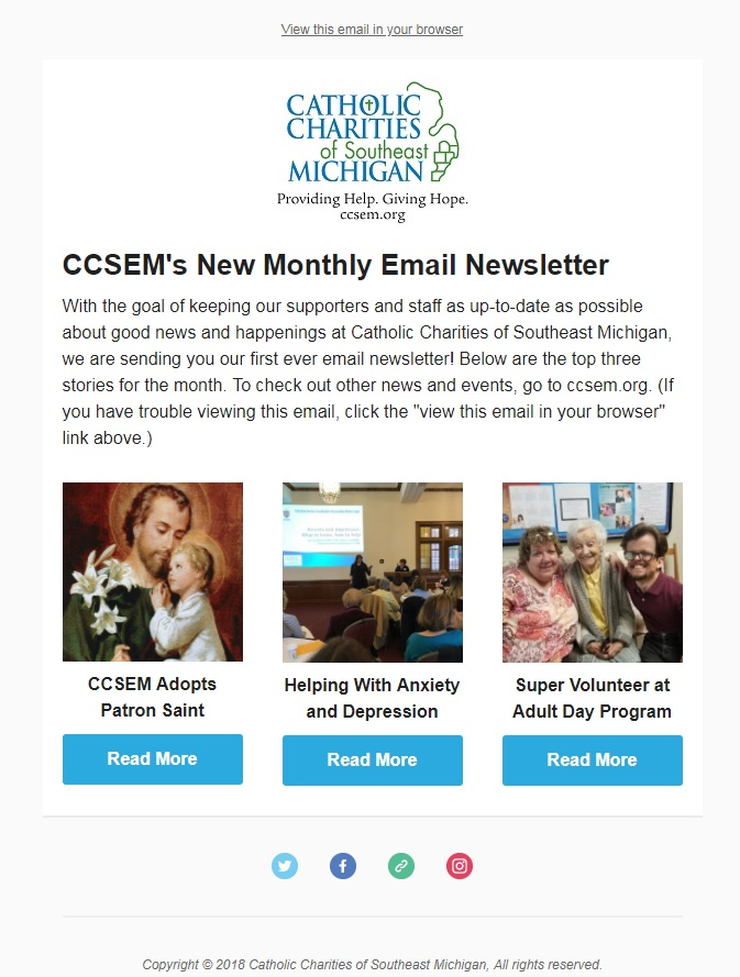 March 2018 Email Newsletter