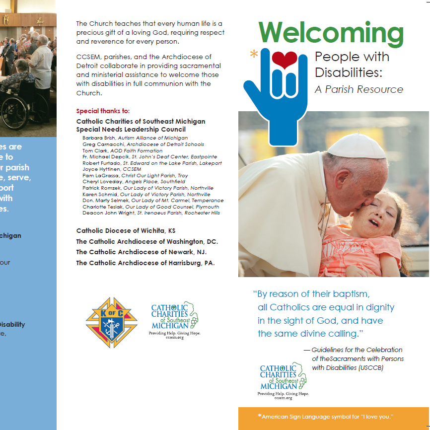 Special Needs Ministry Brochure